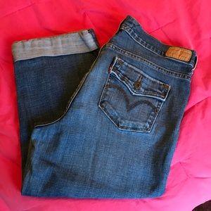 Levi's Crop Jeans with Slight Stretch & Cuffs 10